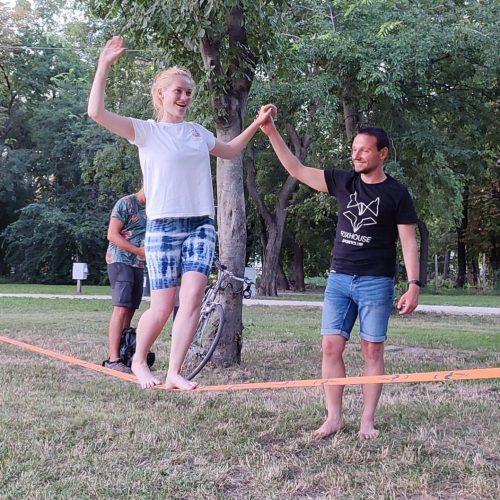 slackline oktatás Budapest